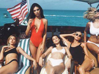 celebrities on yacht