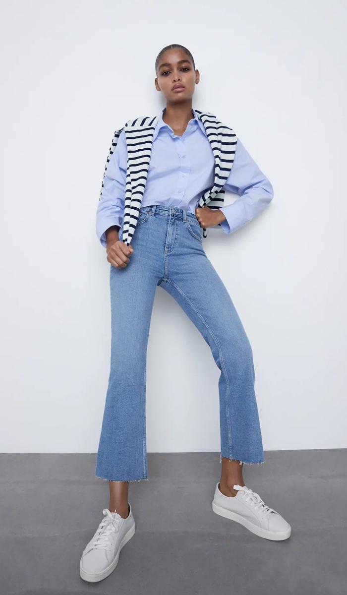 დაბალწელიანი ჯინსის შარვლები